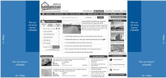 Banner toàn trang Batdongsan.com.vn