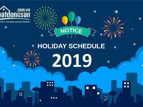 Notice: 2019 New Year Holiday Schedule of Batdongsan.com.vn