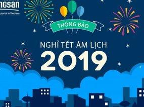 Batdongsan.com.vn thông báo lịch nghỉ Tết Nguyên đán 2019