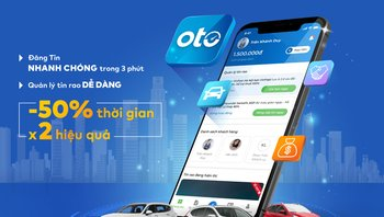 Oto.com.vn ra mắt phiên bản ứng dụng điện thoại với nhiều tính năng hỗ trợ cho các nhà kinh doanh xe chuyên nghiệp